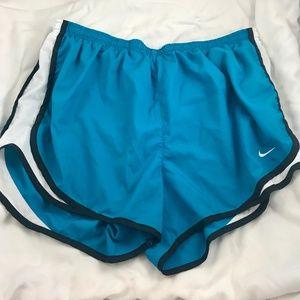 NIKE Dri-Fit Running Shorts Turquoise Sz Large